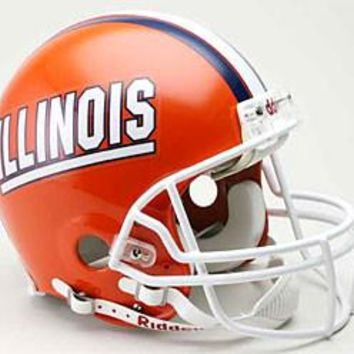 Illinois Fighting Illini Riddell Deluxe Replica Helmet