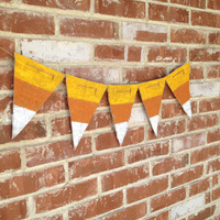 Candy corn Halloween burlap banner - halloween banner - fall banner - trick or treat