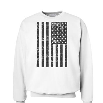 Vintage Black and White USA Flag Sweatshirt