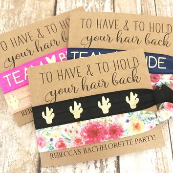 Bachelorette Party Favors | Hair Tie Favors | Bridesmaids' Gift | Wedding Favors