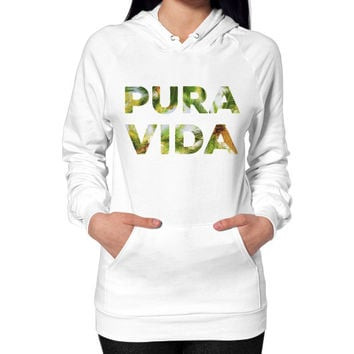 Pura Vida Costa Rica Hoodie (on woman)