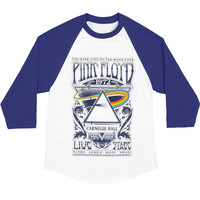 Pink Floyd Men's  Carnegie Hall Baseball Jersey Blue/White