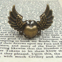 Heart Adjustable Brass Ring