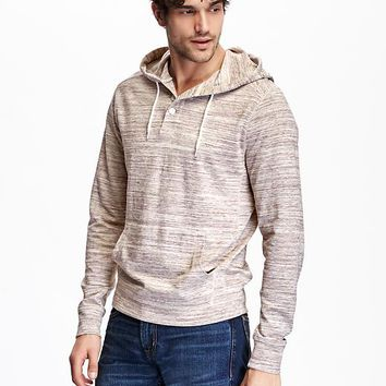 Old Navy Long Sleeve Hooded Henley Tee