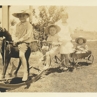 Child's Play Wagon Train Photograph by Paul Ashby Antique Images - Child's Play Wagon Train Fine Art Prints and Posters for Sale