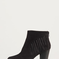 Perforated Ankle Booties - Black - 5.5