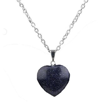 Crystal Blue Sodalite Stone Necklace For Women