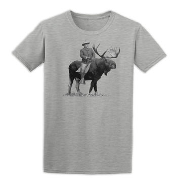 Teddy Roosevelt Riding A Bull Moose Tshirts
