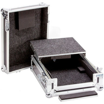 Fly Drive Case For 12-Inch DJ Mixer or Similarly Sized Equipment Plus Laptop Shelf, for Mixers Like Behringer DDM-4000, DJX-750. DENON DN-X1500, DNX-1100, DN-X1700 and Pioneer DJM-800, DJM-700