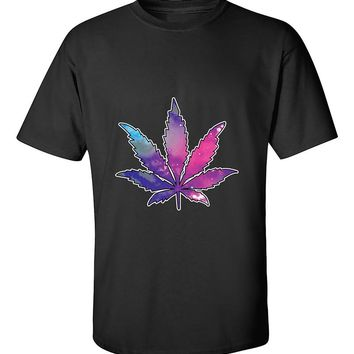 Marijuana Leaf GALAXY T-Shirt