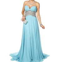 Pre-Order Dahlia- Baby Blue Long Prom Dress
