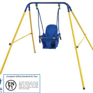 Indoor/Outdoor Folding Baby Swing & Safety Seat