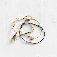 Eye + Tassel Layering Bracelet Set