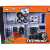 Tire Repair Shop Accessories Set Ford 1-24 Diecast Model Cars by Phoenix Toys