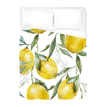 Life of Lemons Duvet Cover