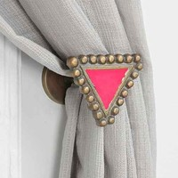 Magical Thinking Textured Triangle Curtain Tie-Back- Pink One