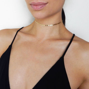 Josefine - Gold Filled Dainty Coin Choker