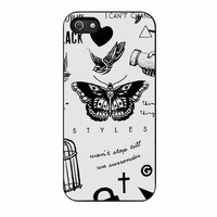 one direction harry styles tattoos blacks cases for iphone se 5 5s 5c 4 4s 6 6s plus