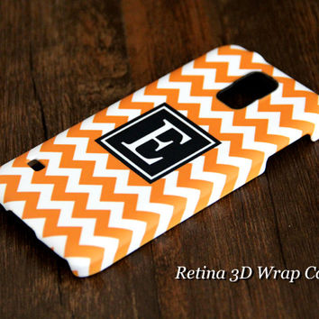 Teen Yellow Chevron Monogram Samsung Galaxy S5/S4/S3/Note 3/Note 2 Wrap Case