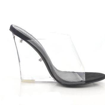 All Clear Wedge Sandal (BLACK)