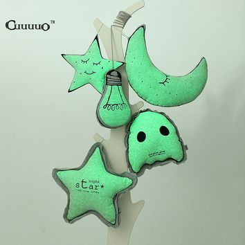 Glow In The Dark Pillow Owl Moon Star Bulb For Kids Bedroom Decor INS Pillows Cartoon Bulb Cushion Creative Home Decoration