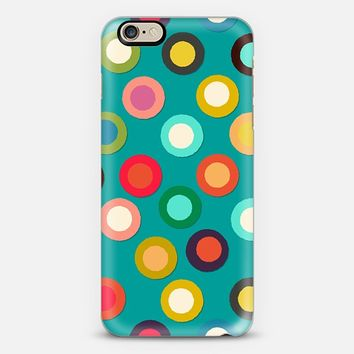 turquoise pop spot iPhone 6 case by Sharon Turner | Casetify