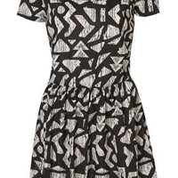 Aztec Print Tshirt Cross Back Dress - Dresses  - Apparel  - Topshop USA