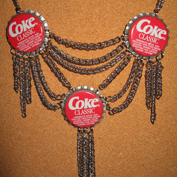 Confessions of a Teenage Drama Queen, Vintage replica  Coca Cola Bottle Cap Necklace, Coke Soda