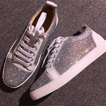 Cl Christian Louboutin Low Style #2069 Sneakers Fashion Shoes