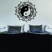 Mandala Yin Yang Art Wall Decal Sticker Vinyl Buddha Absolute Brahman Hindu