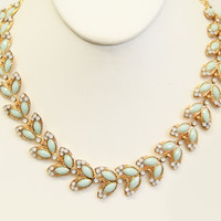 Pale Blue Grecian Necklace Set
