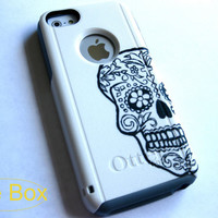 iphone 5C case, case cover iphone 5c otterbox ,iphone 5c otterbox case,otterbox iphone 5C, otterbox,sugar skull otterbox case