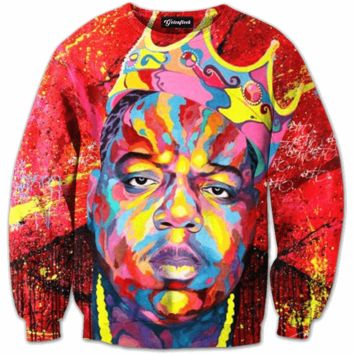 Biggie Face Paint Crewneck