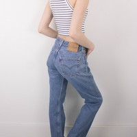 Vintage (MEDIUM) Levis 501 High Waisted Denim Jeans