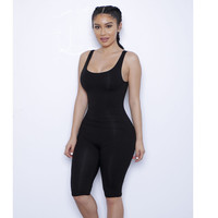 Plus Size Jumpsuits and Rompers for Women Bodycon Backless Sexy Bodysuit Leotard Workout One Piece Spandex Playsuit D36-F86