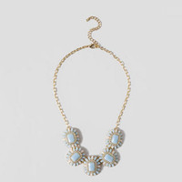 DRISKILL JEWELED NECKLACE IN LIGHT BLUE