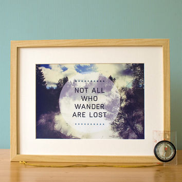 Not All Who Wander A4 Print