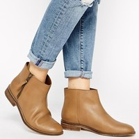 ASOS A LITTLE BIRD TOLD ME Leather Wide Fit Ankle Boots