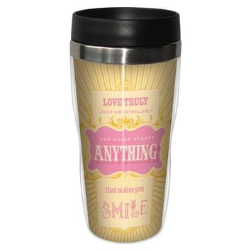 Extra Frosting Artful Travel Mug - Premium 16 oz Stainless Lined w/ No Spill Lid