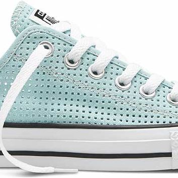Converse Chuck Taylor All Star Shoes Perforated Canvas Ox for Women in Motel Blue 551623F