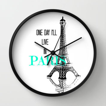 One Day Wall Clock by Veronica Ventress