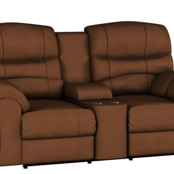 Dual Reclining Leather Color Customizable Loveseat Sofa with Console Durant by Palliser