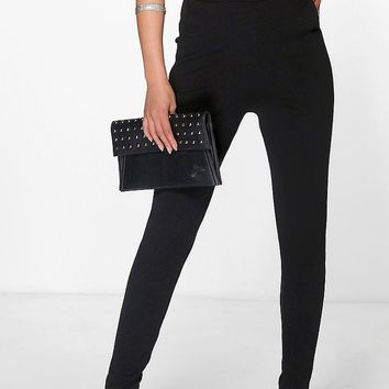 Eva Crepe Super Stretch Skinny Trousers | Boohoo