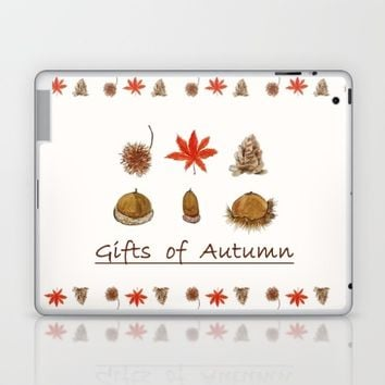 Gift of autumn watercolor painting  Laptop & iPad Skin by Color and Color