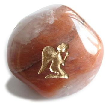 Lucky Charm Praying Angel Guardian Stone