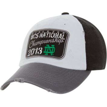 Top of the World Notre Dame Fighting Irish 2013 BCS National Championship Game Bound Adjustable Hat - White/Black - http://www.shareasale.com/m-pr.cfm?merchantID=7124&userID=1042934&productID=555882242 / BCS National Championship