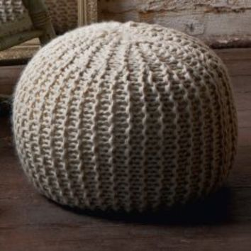 strickpouf im impressionen online shop from. Black Bedroom Furniture Sets. Home Design Ideas