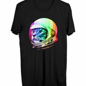 CREYH9S Astronaut Space Cat Men T Shirts