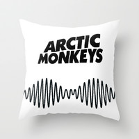 Arctic Monkeys: AM Throw Pillow by marinasdiamonds | Society6