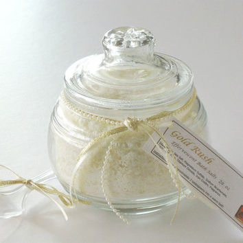 Gold Rush Effervescent Bath Salts, Sea Salt Bath Soak, Scented- 20 oz gift jar OOAK